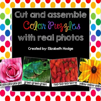 Cut and Assemble Color Puzzles with Real Photos