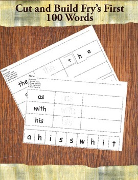 Cut and Build Sight Words
