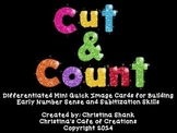 Cut and Count Mini Quick Image Cards for Building Essential Number Sense