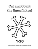 Cut and Count the Snowflakes 1-20