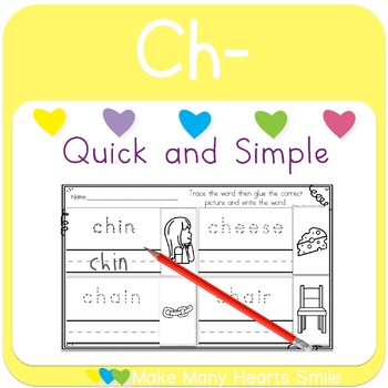 Cut and Draw:  Ch Digraph     MMHS21