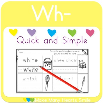 Cut and Draw:  Wh Digraph     MMHS21