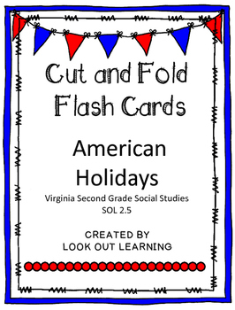 Cut and Fold Flashcards:American Holidays