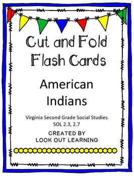 Cut and Fold Flashcards:American Indians