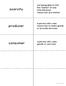 Cut and Fold Flashcards:Economics
