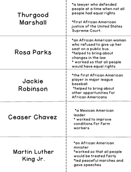 Cut and Fold Flashcards:Famous Americans