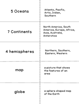 Cut and Fold Flashcards:Geography