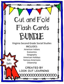 Cut and Fold Flashcards:Social Studies Bundle