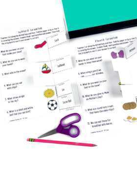 S and S Blends Activity: Cut and Fold