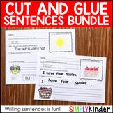 Cut and Glue Activities for Kindergarten ( Cut and Glue Sentences )