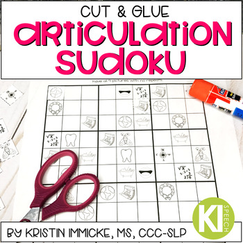 Cut and Glue Articulation Sudoku - No Prep Articulation Practice