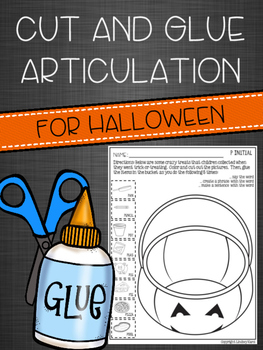 Cut and Glue Articulation for Halloween