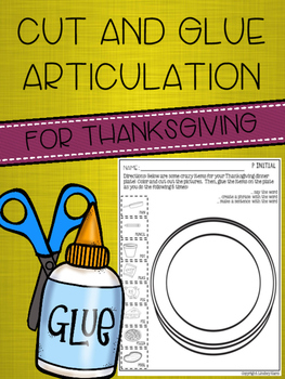 Cut and Glue Articulation for Thanksgiving