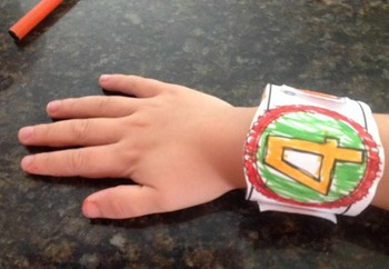 Fall and Halloween Counting Bracelets