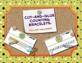 Halloween Math Craft Kindergarten Preschool Counting Bracelets Fall & Halloween