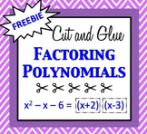 Cut and Glue Factoring Polynomials Activity - FREEBIE