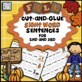 Fall Sight Word Sentences for Second and Third