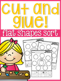 Cut and Glue Flat Shapes Sort