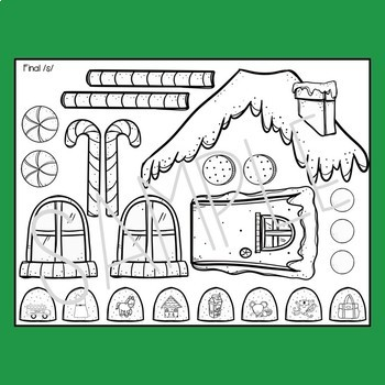 Cut and Glue Gingerbread House Activity for Speech Therapy