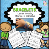 Letter Recognition Activities Kindergarten Bracelets | Phonemic Awareness