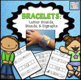 Letter Sound Activities Kindergarten Bracelets (Blends and Digraphs Included)