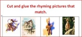 Cut and Glue Matching Rhyme Pictures