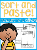 Cut and Glue Measurement Sort