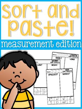 Cut and Glue Measurement Sort