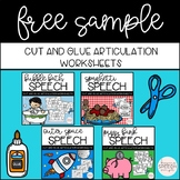Cut and Glue No Prep Articulation Free Variety Sample for /L/