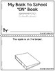 Cut and Glue Preposition Books for Back to School
