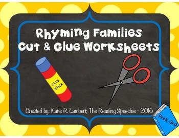Cut and Glue Rhyming Families