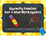 Cut and Glue Rhyming Families NO PREP