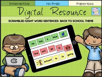 Back to School Activities | Kindergarten Sight Words First Grade Sight Words