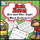Back to School Activities | Kindergarten Sight Words First