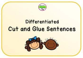 Cut and Glue Sentences Differentiated