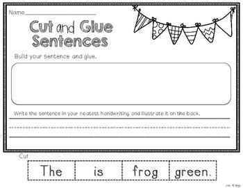 Cut and Glue Sentences