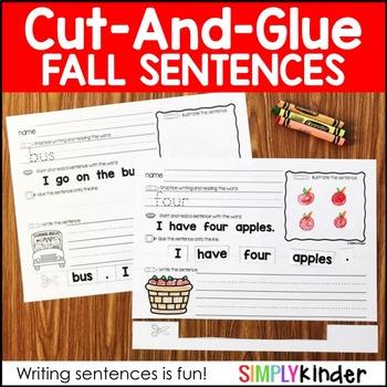 Cut and Glue Sentences - Fall