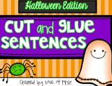 Halloween Cut and Glue Sentences