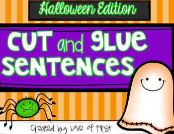 Halloween Cut and Glue Sentences