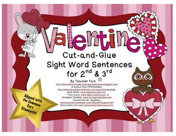 Valentine's Day Sentences for Second and Third