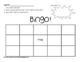 Cut and Glue Sight Word Bingo