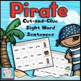 Sight Word Sentences Pirate Theme