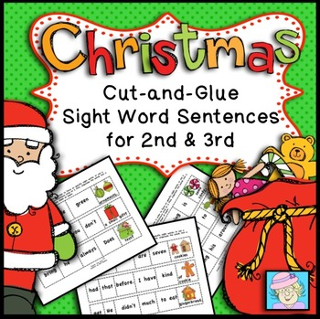 Winter Holidays: Christmas Sentences for 2nd and 3rd
