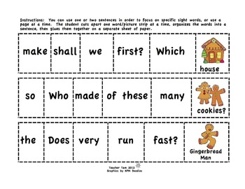 Christmas Activities for 2nd Grade and 3rd   Christmas Sight Word Activities