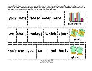 Spring Activities 2nd Grade & 3rd Grade | Sight Word Sentences 2nd & 3rd