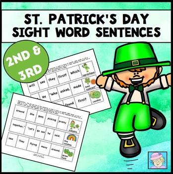 St. Patrick's Day Sentences Sight Words 2nd Grade | Third Grade Sight Words