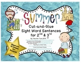 Cut-and-Glue Sight Word Sentences for 2nd and 3rd:  Summer Theme