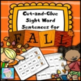 Sight Word Sentences for Fall