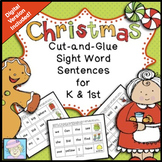 Christmas Activities Kindergarten 1st Grade & BOOM CARDS | Sight Words Christmas