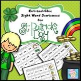 St. Patrick's Day Activities Kindergarten & 1st Grade Sight Words Sentences